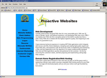 History - Chronological Order of Personal Websites